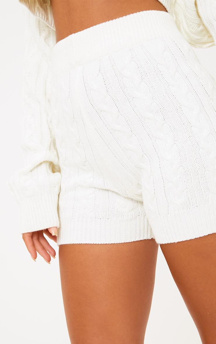 Cream Knit Short 7