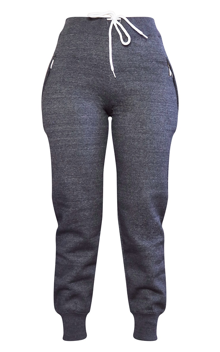Charcoal Contrast Drawstring Joggers 5