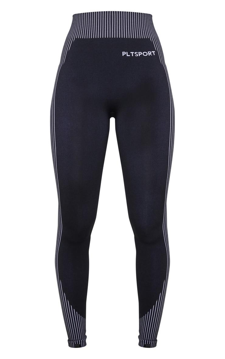 PRETTYLITTLETHING Monochrome Sport Seamless Contour Leggings 5