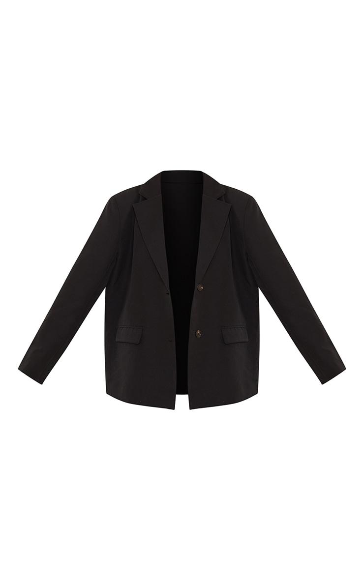 Black Extreme Shoulder Pad Oversized Blazer 5