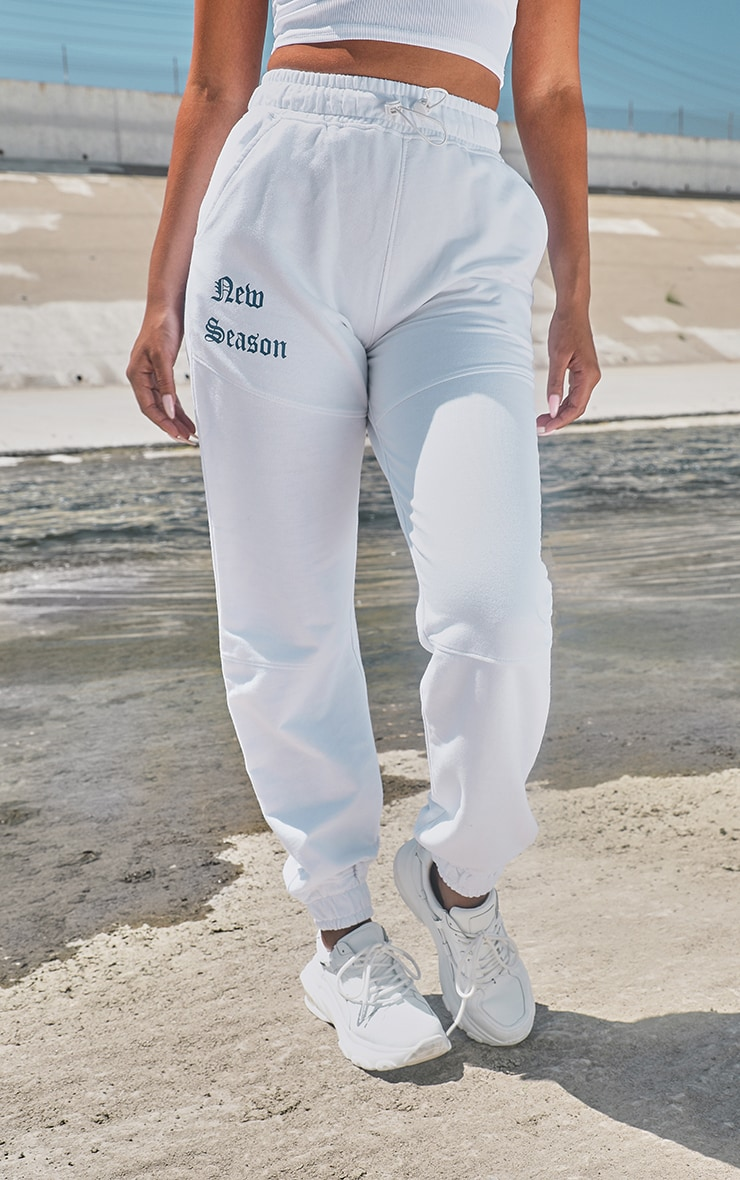 White New Season Casual Joggers 2