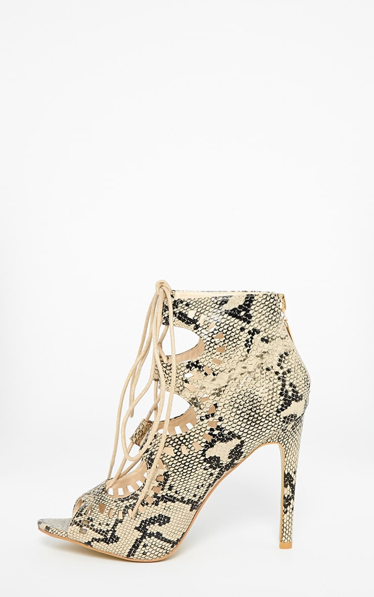 Xylia Snake Cut Out Detail Heels 5