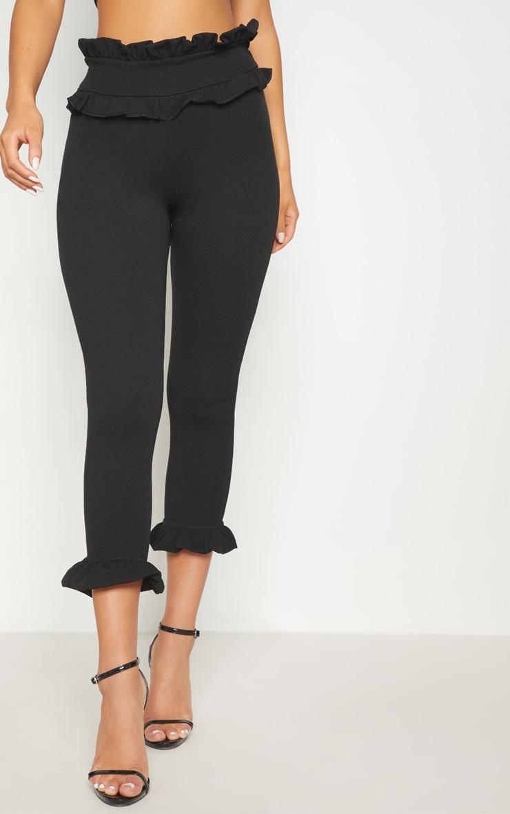 Keren Black Frill Hem Pants 2