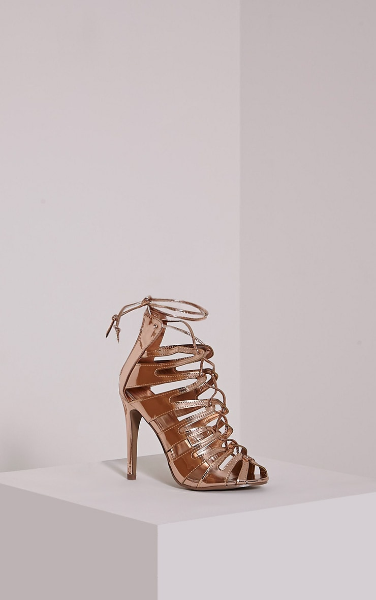 Lizeth Rose Cut Out Heeled Sandals 3