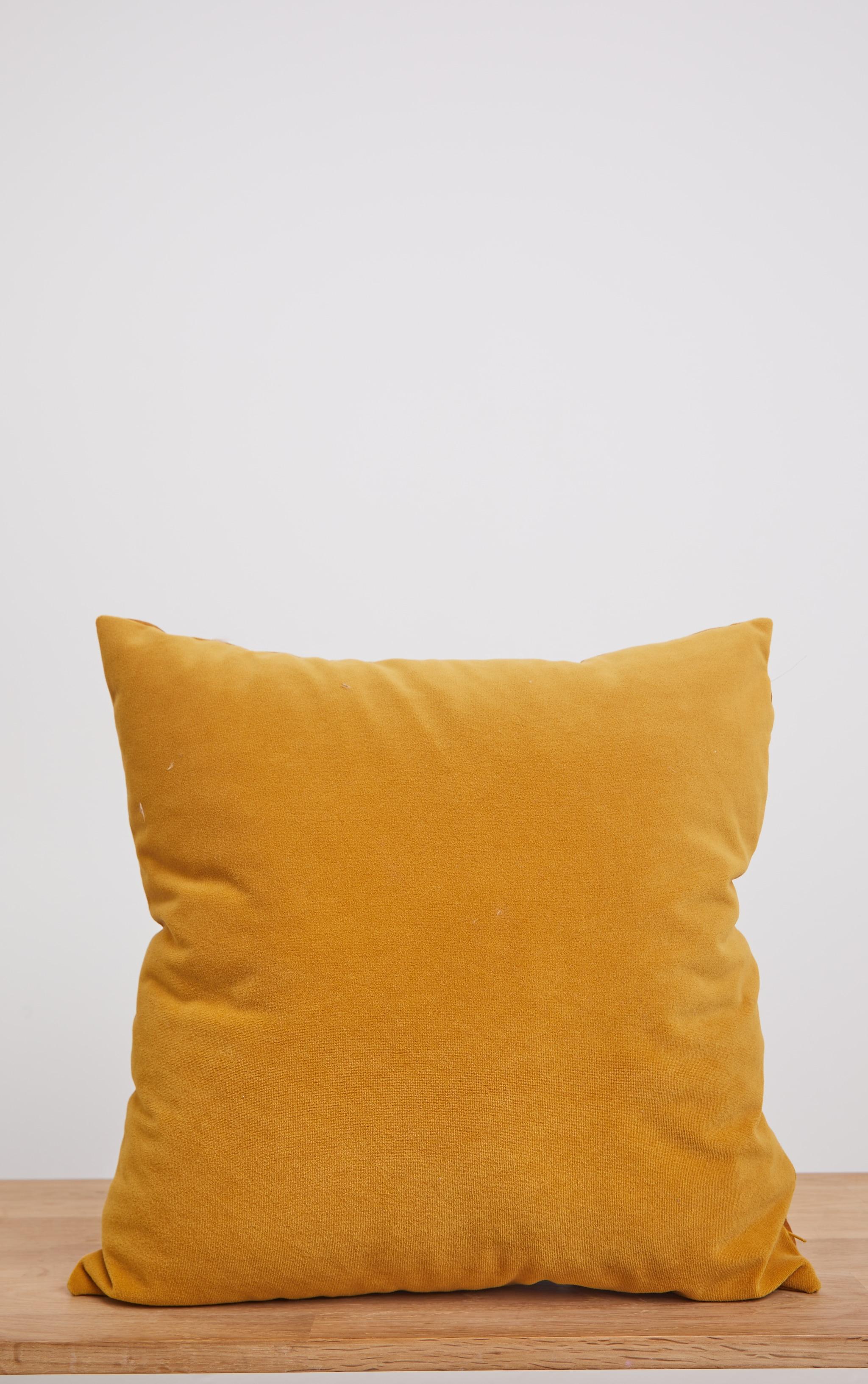 Yellow Velvet Cushion 3