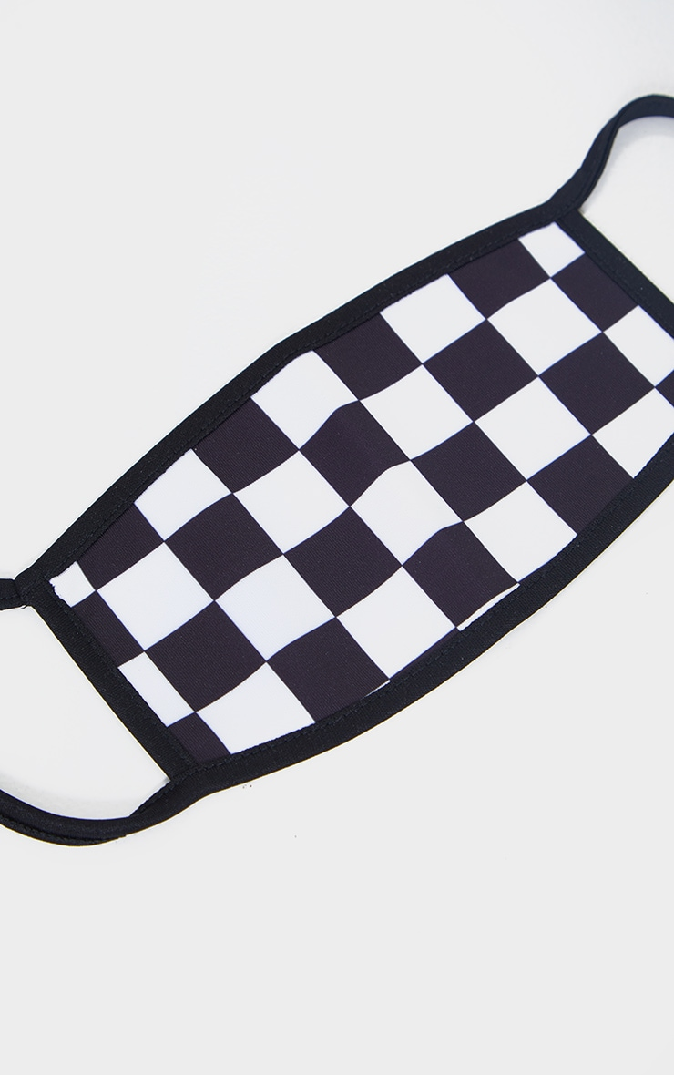 Black Checkerboard Fashion Mask 2
