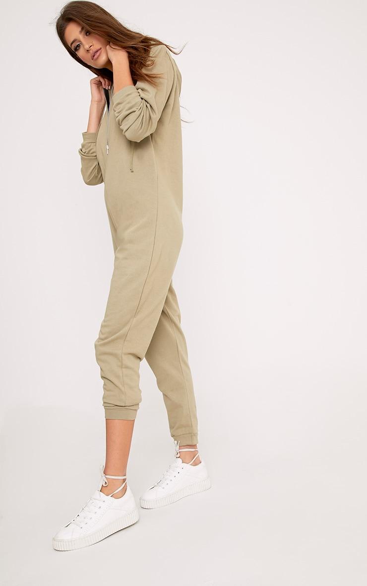 Gillian Sage Sweater Oversized Zip Front Jumpsuit 4