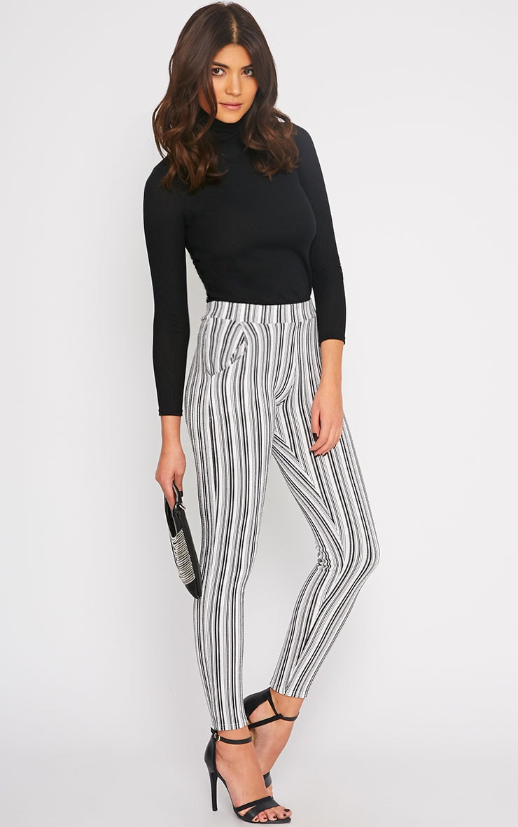 Ivy Monochrome Stripe Cigarette Trousers 1