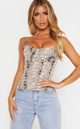 Snake Structured Corset Top 4