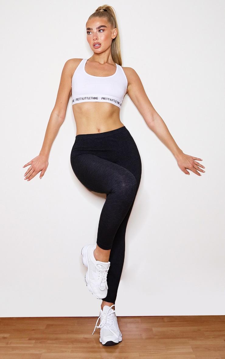 Black Basic Gym Leggings 1