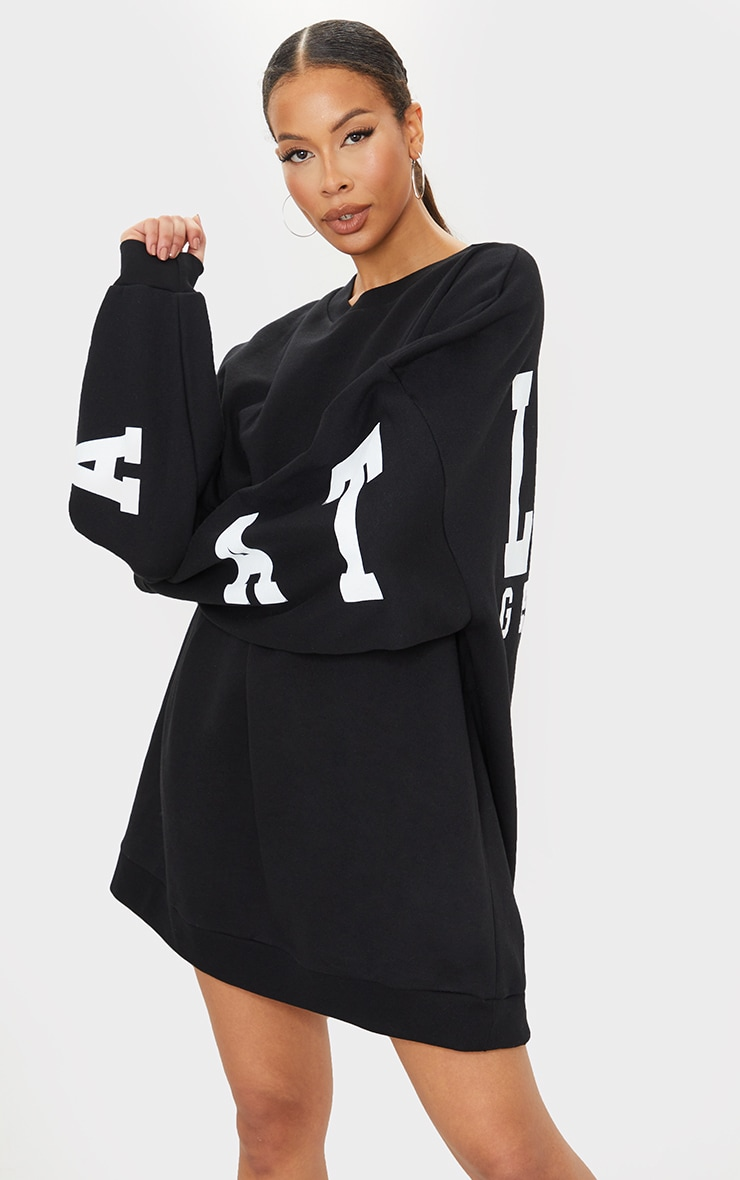 Tall Black Atlanta Georgia Slogan Sweater Dress 2