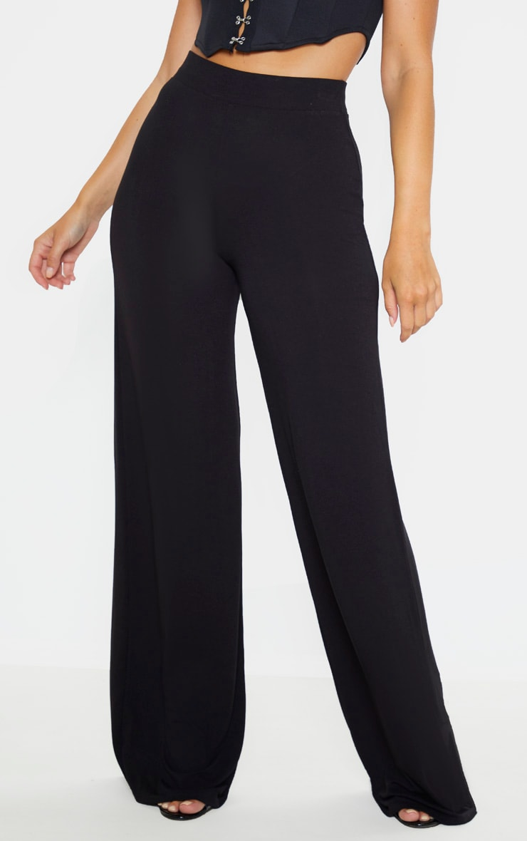 Lot de 2 pantalons larges basiques en jersey - Noir & Bordeaux 2