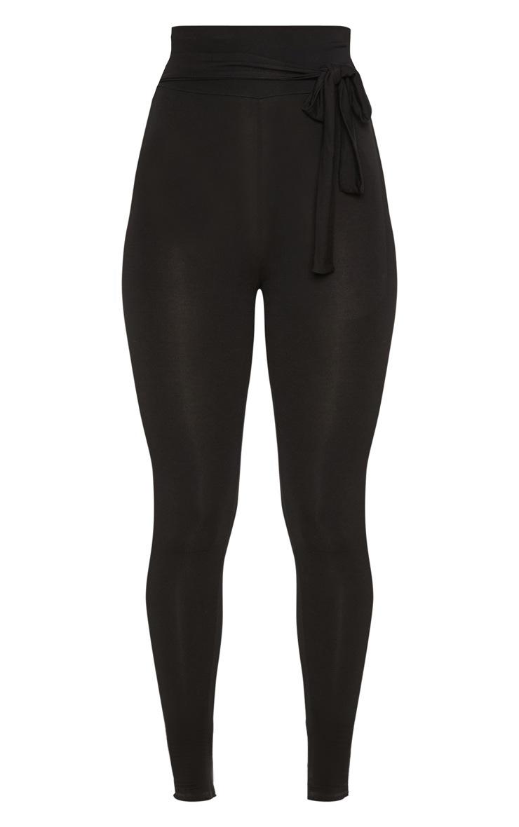 Black Tie Waist Detail Legging 3