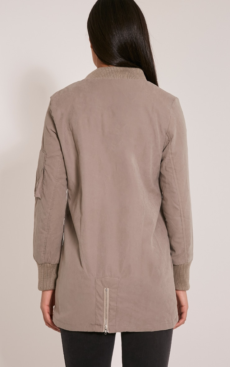 Bailey Grey Longline Padded Coat 2