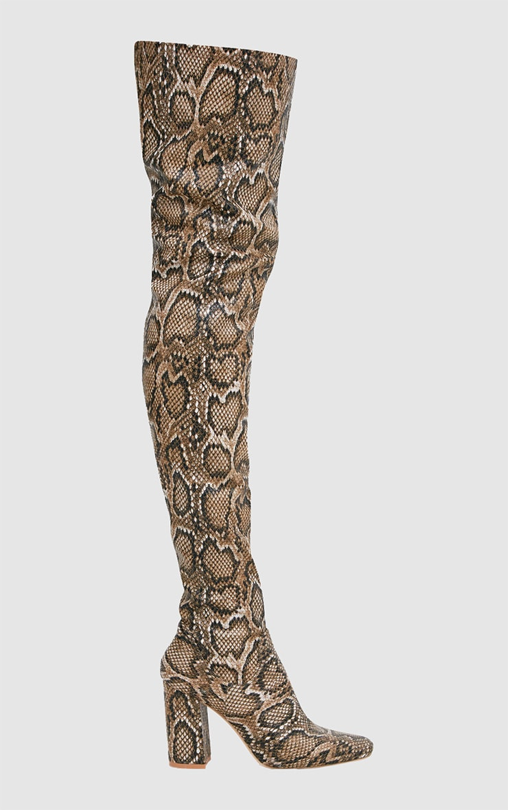 Snake PU Thigh Boot 3