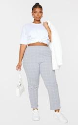 Plus Grey Tweed Check Skinny Pants 1
