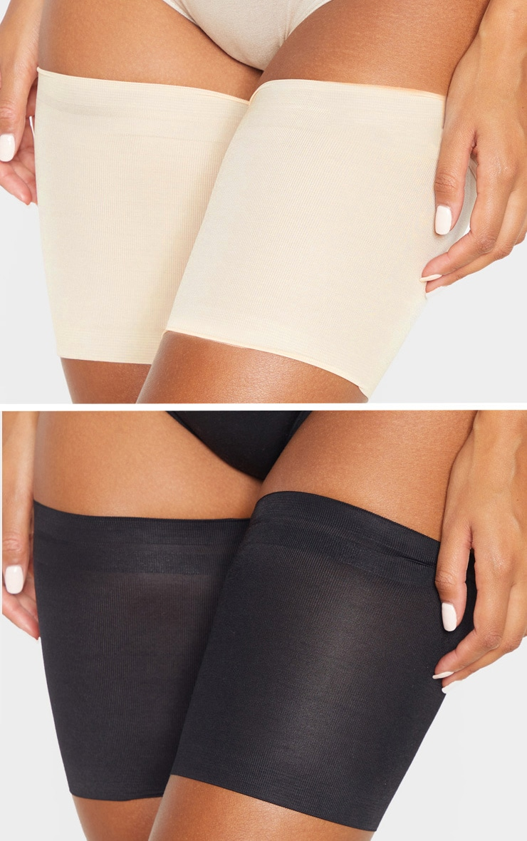 Black/Nude 2 Pack Chafing Bands 1