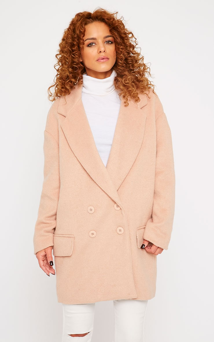 Lizzie Blush Wool Boyfriend Coat 1