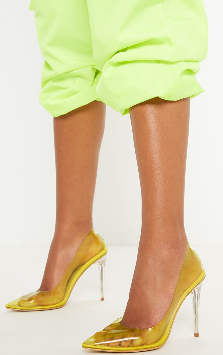 Yellow Clear Court Shoe