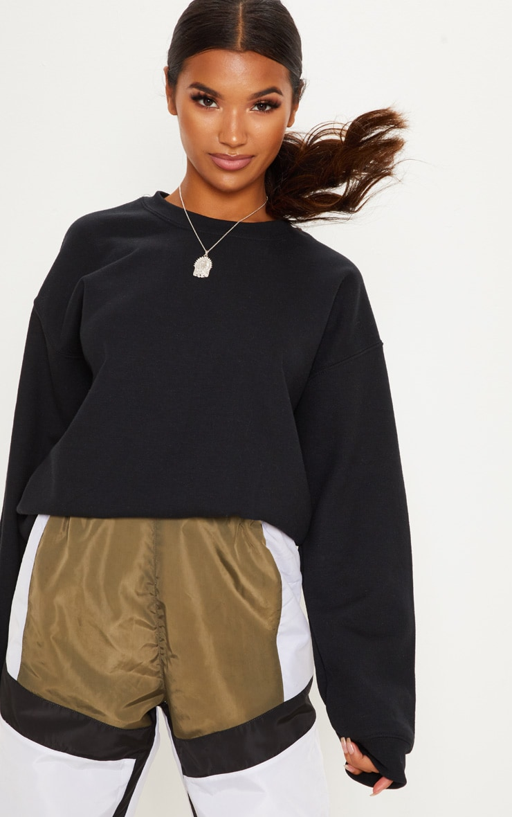 Black Ultimate Oversized Sweater 1
