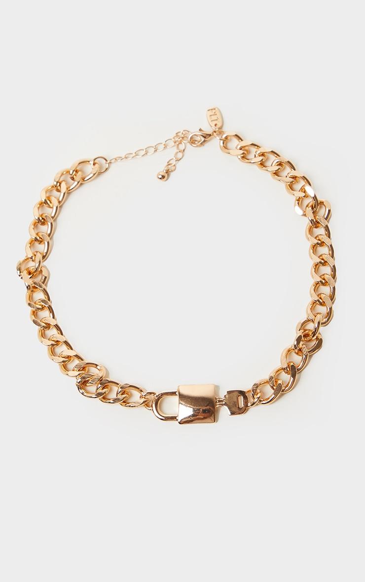 Gold Lock And Key Choker 3