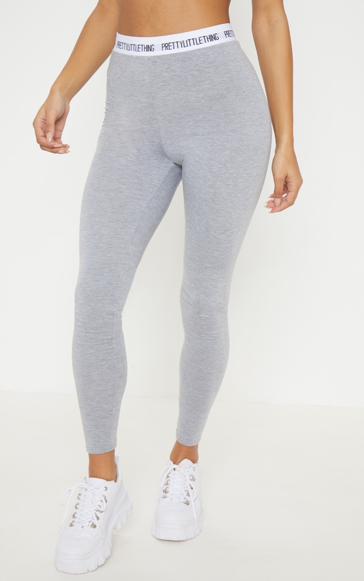 PRETTYLITTLETHING Grey Leggings 2