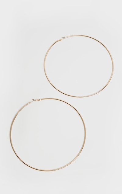 Gold 150mm Extra Large Hoop Earrings
