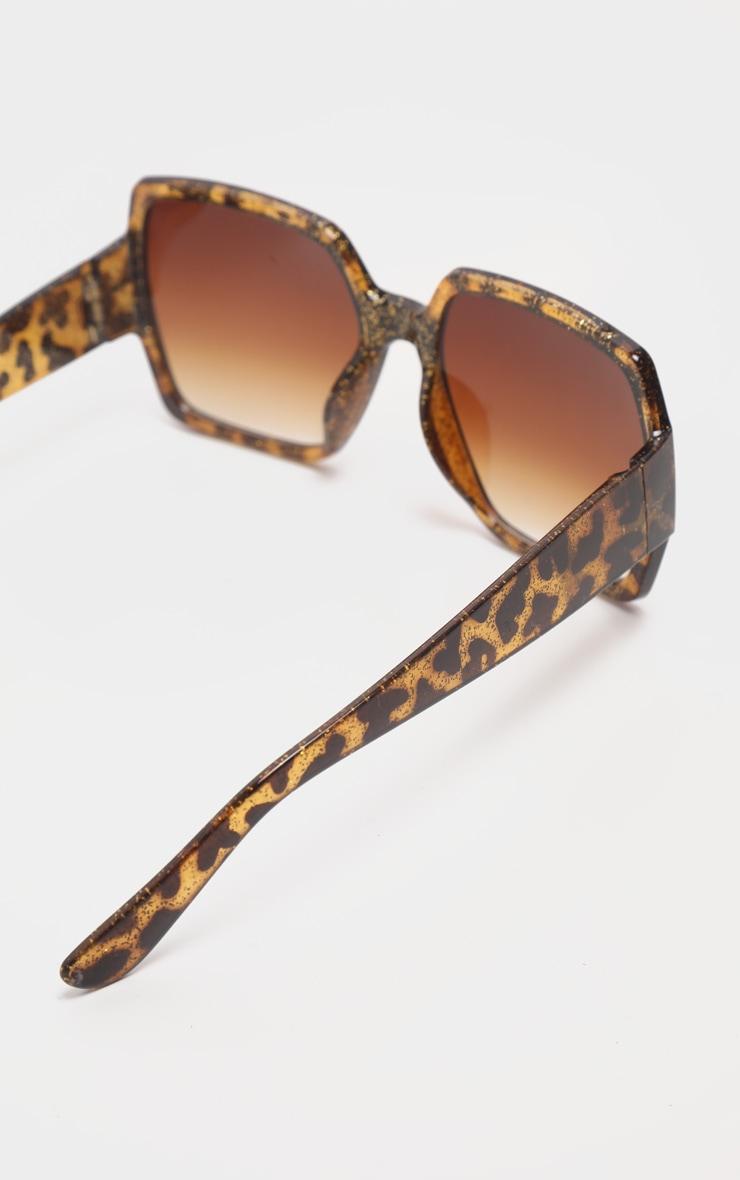 Tortoiseshell Square Oversized Sunglasses 4