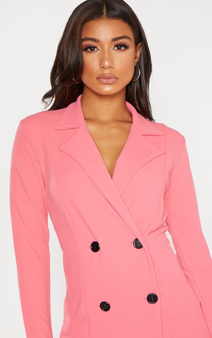 Coral Double Breasted Blazer  5