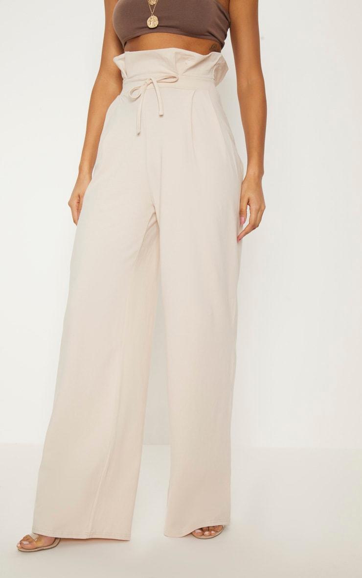 Cream Paperbag Wide Leg Trouser 2