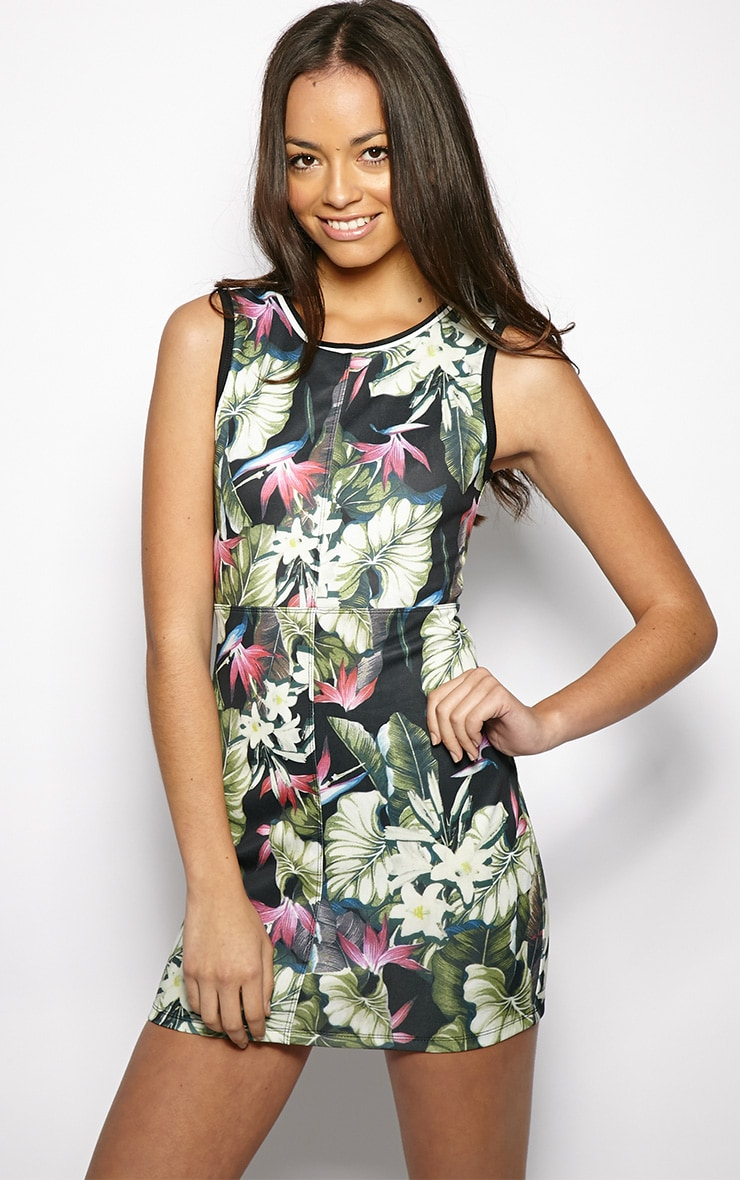 Helena Floral Print Basketball Dress  1