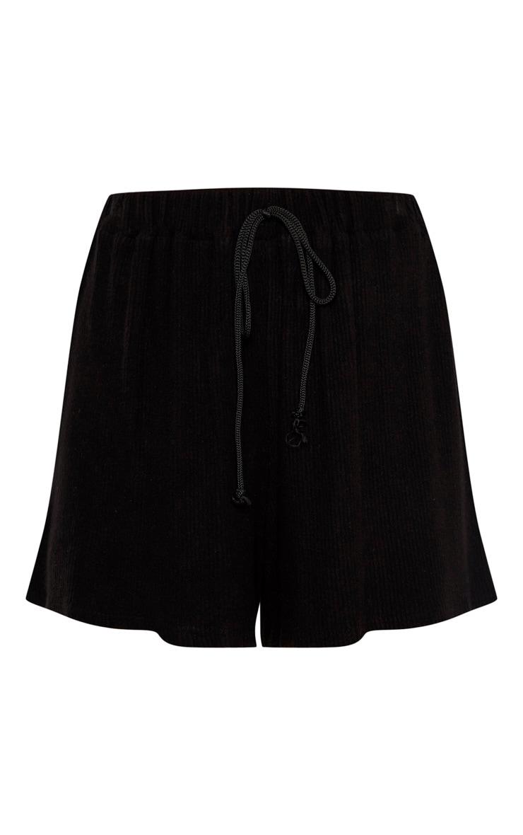 Tall Black Lightweight Knit Floaty Shorts 3