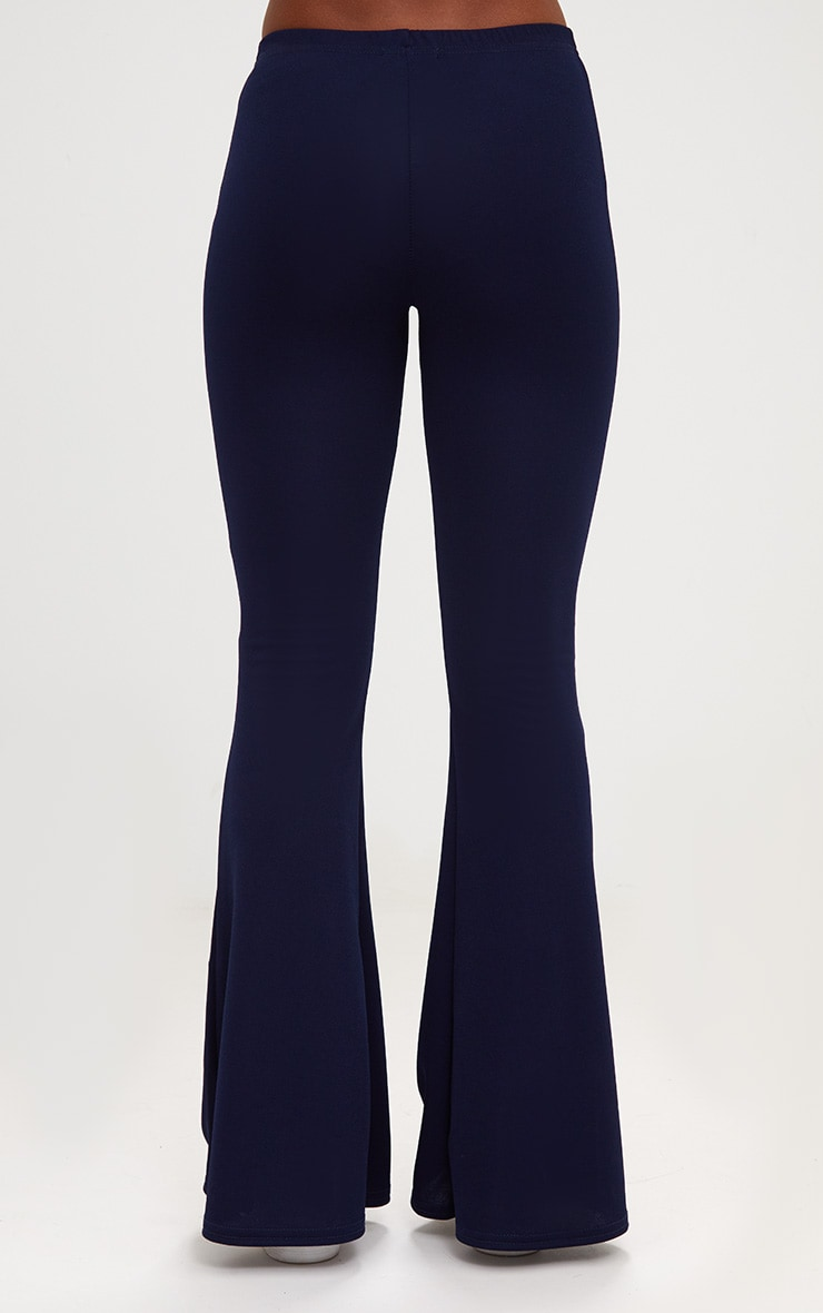 Navy Ultimate Flared Trousers 4