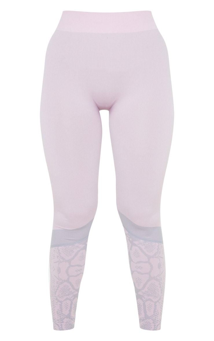 Pink Snake Seamless Sports Legging 3