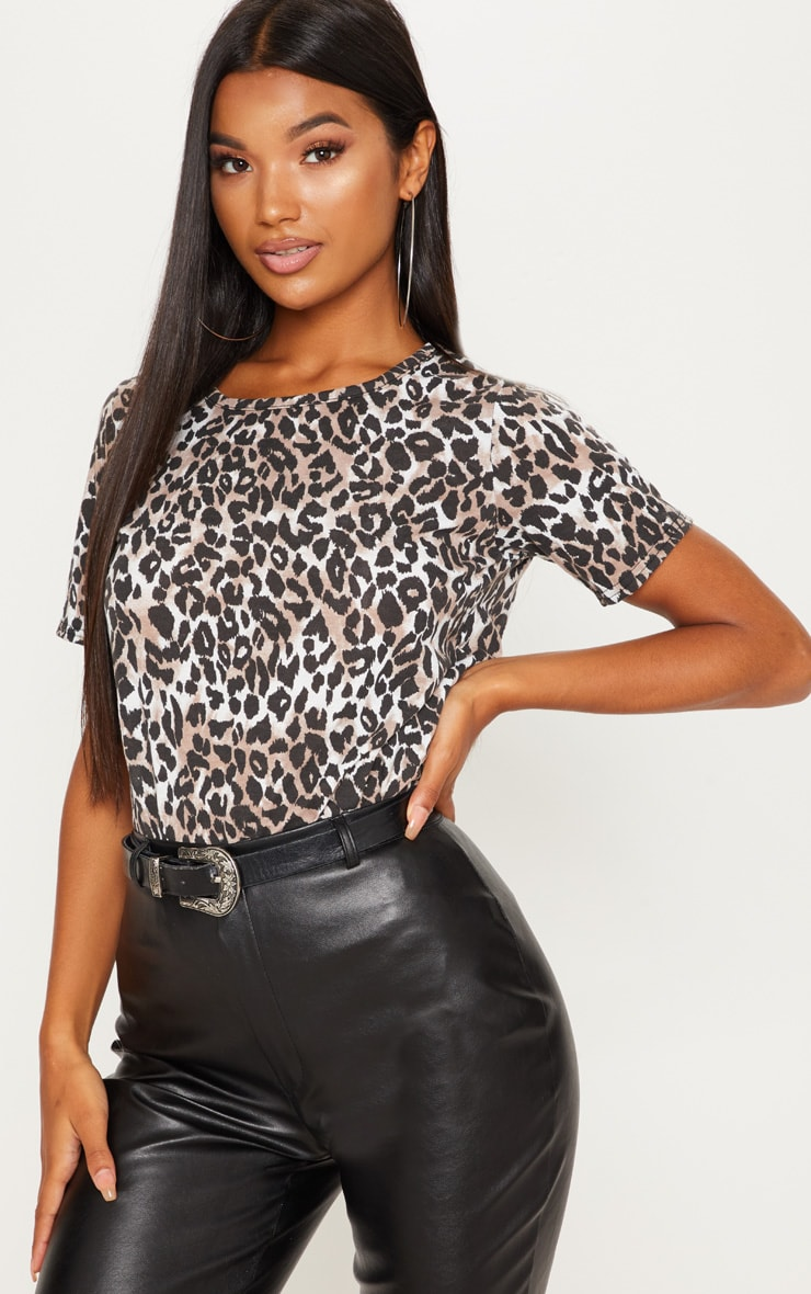 Tan Leopard Print Tshirt 2