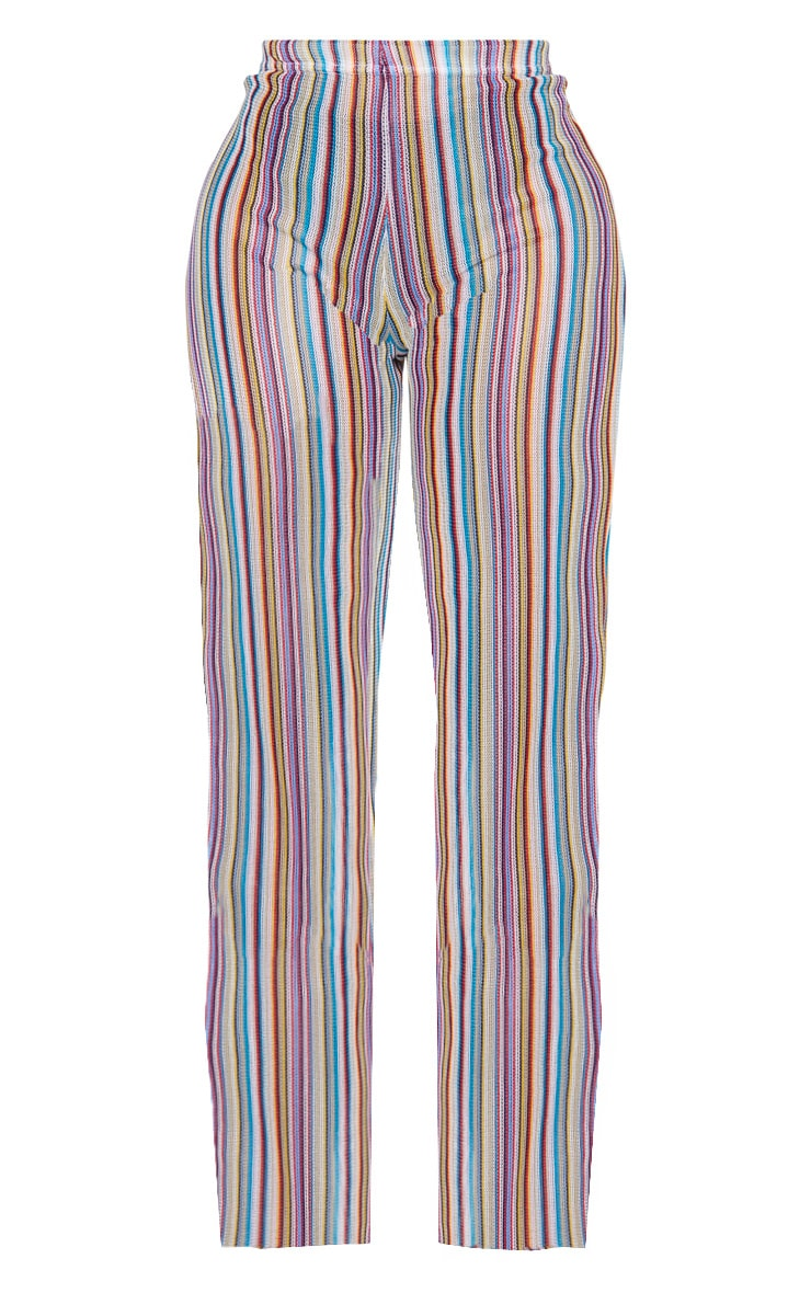 Shape Multi Striped Crochet Wide Leg Trouser 3