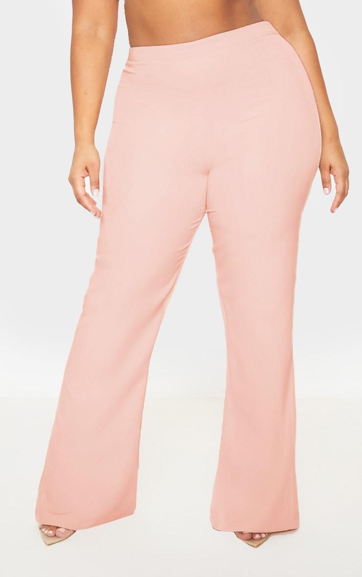 Plus Nude Pocket Detail Wide Leg Pants 2