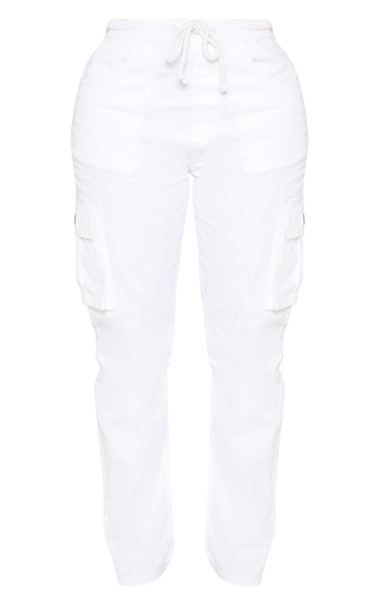 Shape White Cargo Jeans 3