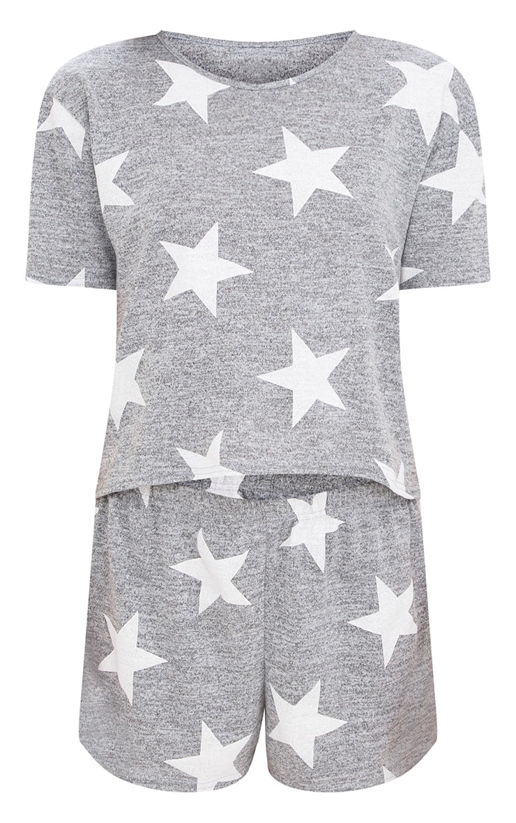 Grey Star T Shirt PJ Set  3