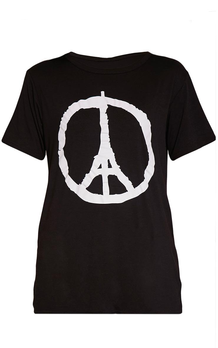 Paris Black Peace T-Shirt 1