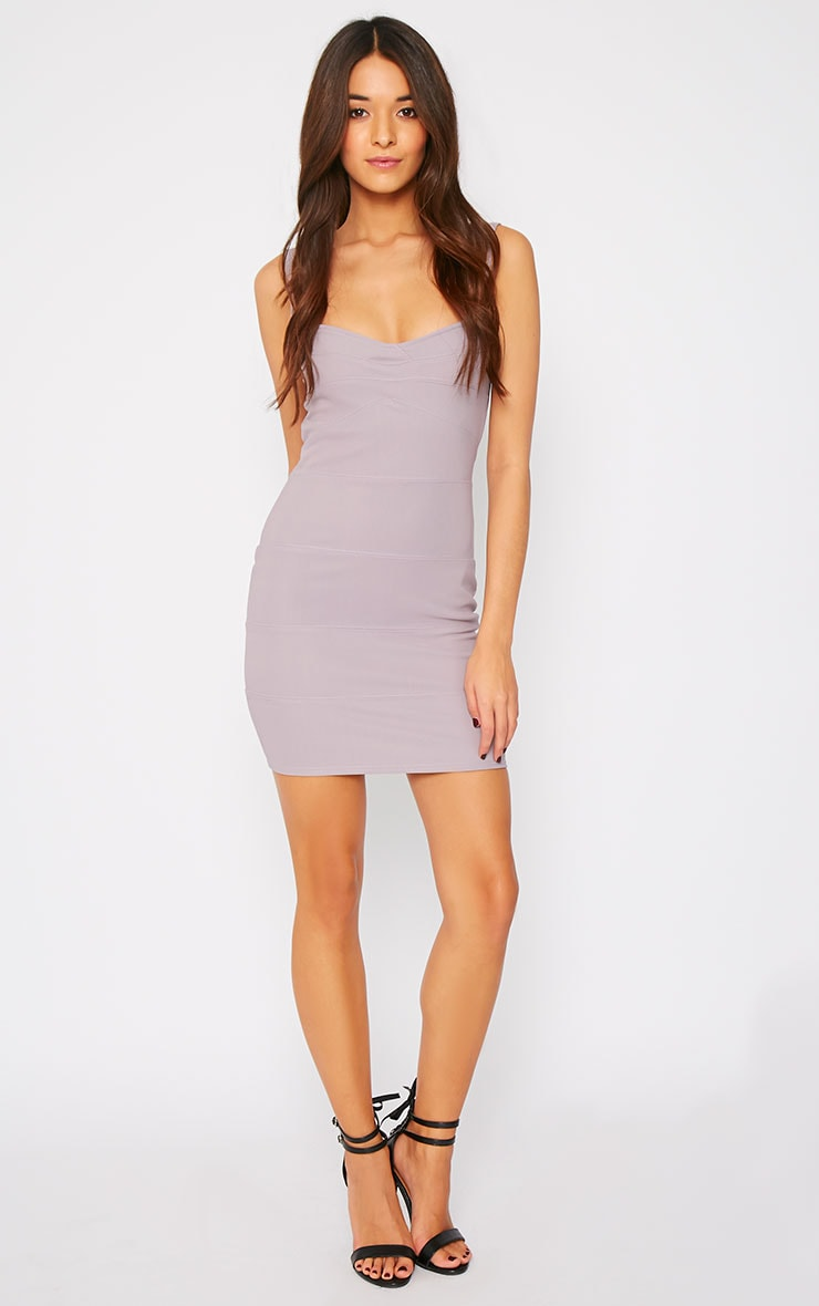 Elsa Grey Bandage Dress 3