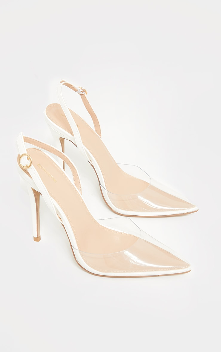 White Clear Court Heels 3