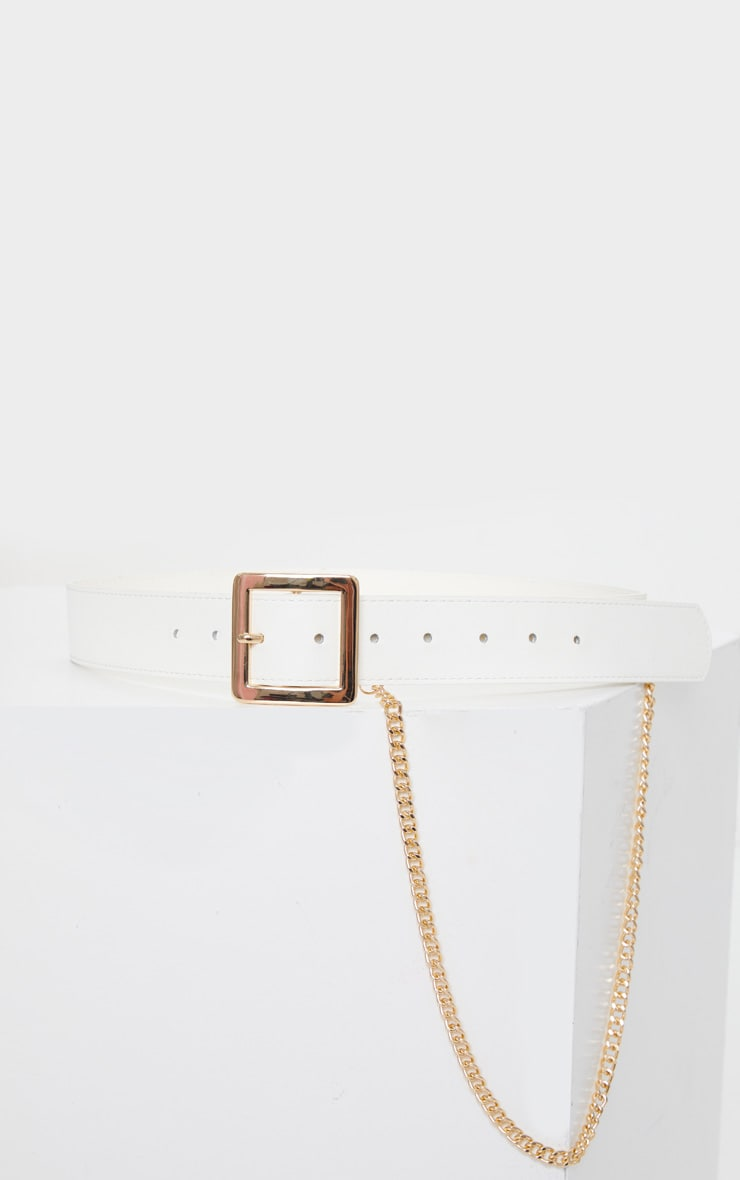 White Belt With Gold Chain 2