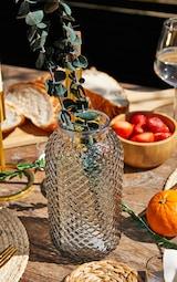 Grey Diamond Textured Tube Vase 1