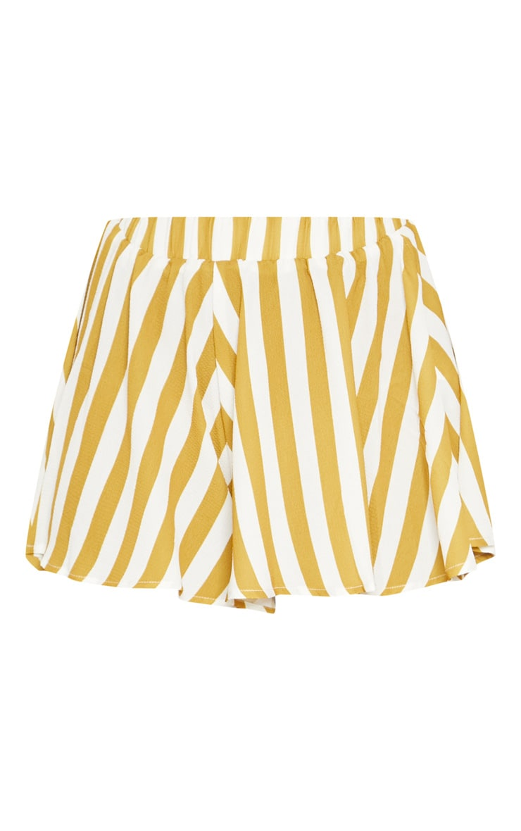 Mustard Stripe Floaty Shorts 3