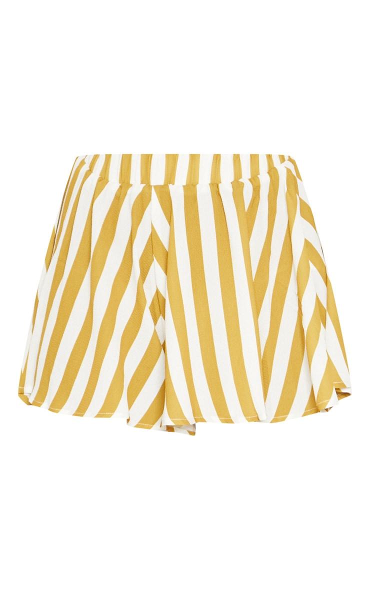 Mustard Stripe Floaty Shorts 3