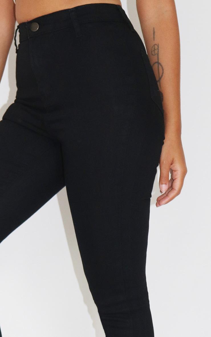Petite Black Disco Fit Skinny Jeans 3