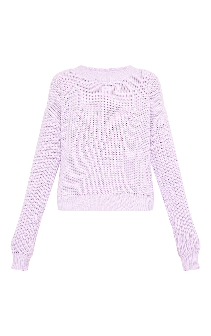 Cara Lilac Cropped Knit Jumper 3