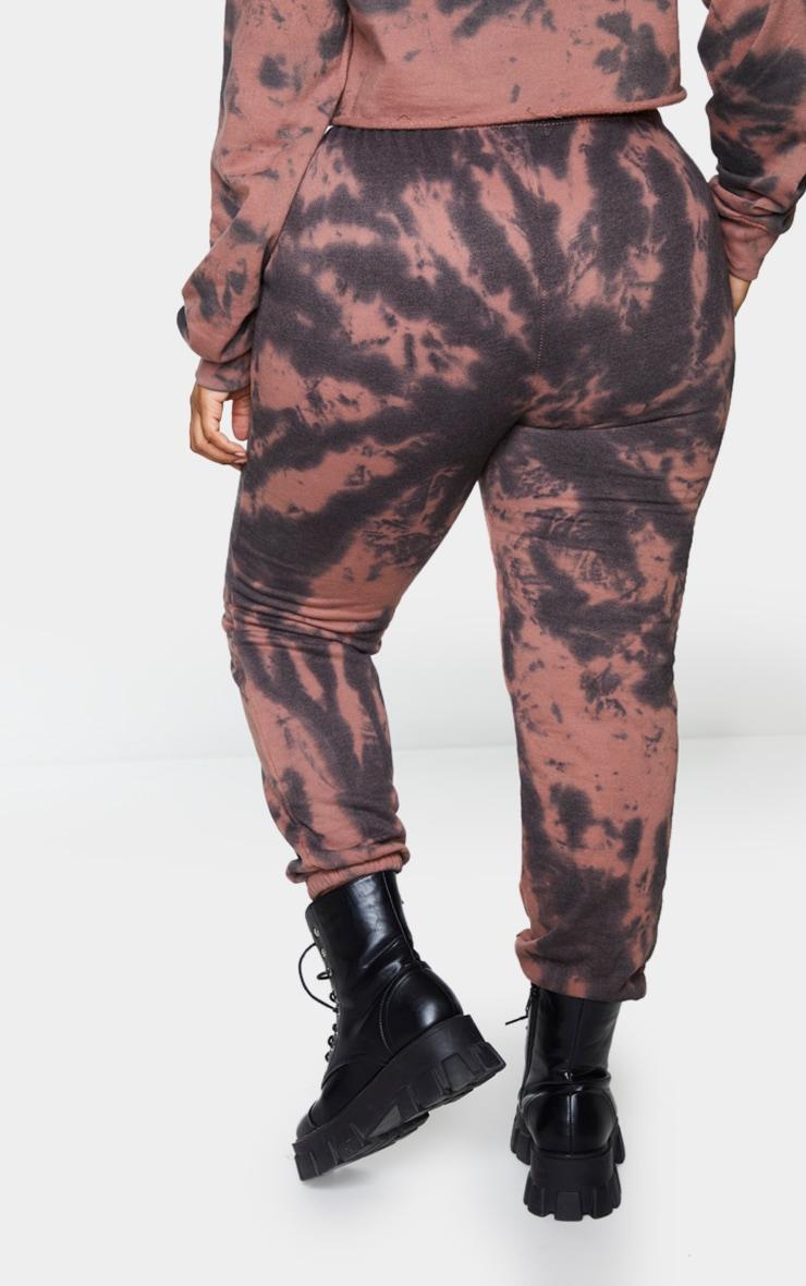 Plus Rust Tie Dye Joggers 3