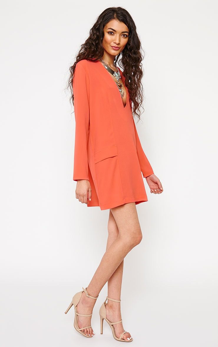 Jemima Coral Loose Fit Blazer Dress 3